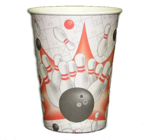 Bowling Birthday Party Drink Cups (Set of 8)