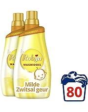 Robijn Wasmiddel Vloeibaar Klein & Krachtig Zwitsal Color voor de Gekleurde Was met Milde Zwitsal geur - 80 wasbeurten - 2 x 1,4L - Grootverpakking