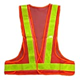SODIAL(R)Hi-Viz Reflective Vest High Visibility Warning Traffic Construction Safety Gear red Yellow