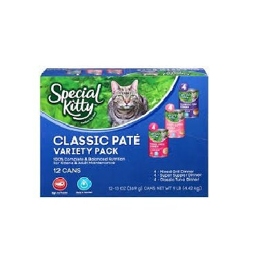 Special Kitty Classic Pate Variety Pack Wet Cat Food, 13-...