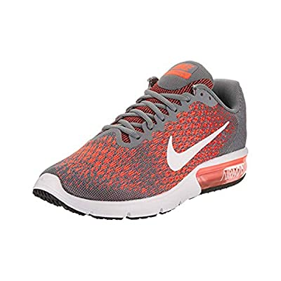 Nike Men's Air Max Sequent 2 Running Shoes (9.5 D(M) US, Cool Grey/White-Max Orange)