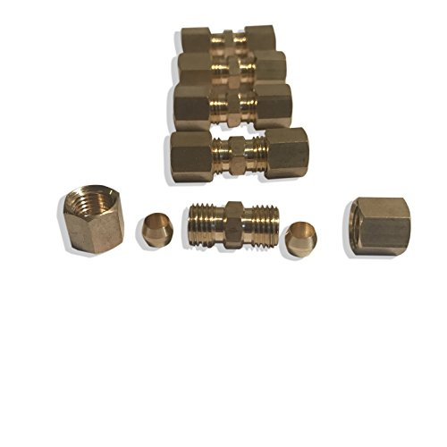 ASD 3/16 OD Compression Fittings/Unions (Pack of 5) by Auto Supplies Direct