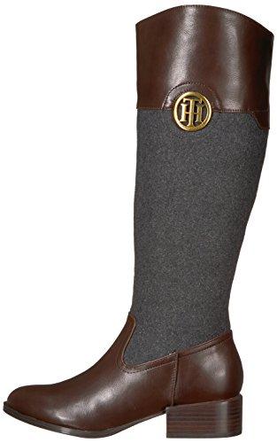 Women''s Grey Flannel brown Equestrian Boot Tommy Madelen Hilfiger UPHXq8