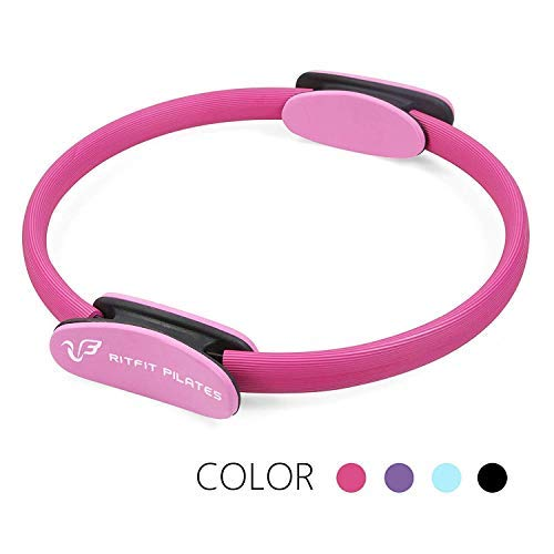 RitFit Pilates Ring - Magic Fitness Circle for Toning Inner & Outer Thighs, Carry Bag & Bonus eBook Included (Pink)