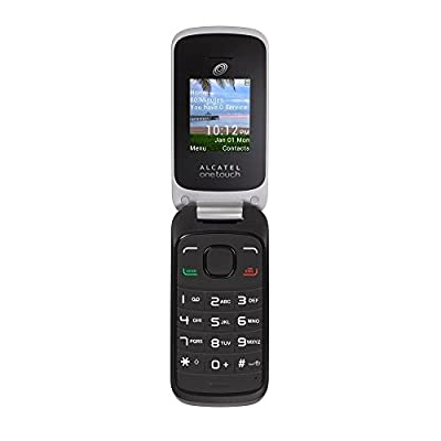 Tracfone No-contract Double Minutes Alcatel Onetouch A206g Flip Cell Phone