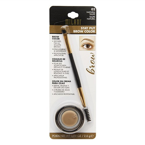Milani Stay Put Brow Color, 02 Natural Taupe (Pack of 2)