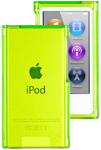 HHI Crystal Clear Hard Case for iPod Nano 7th Generation - Clear Green (Package include a HandHelditems Sketch Stylus Pen)
