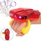 Auney Handheld Bubble Machine with Light, Automatic Arm Bubble Blower Bubble Maker 2000+