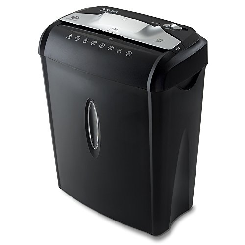 Aurora AU740XA 7-Sheet CrossCut Paper / Credit Card Shredder with Basket, Black by Aurora
