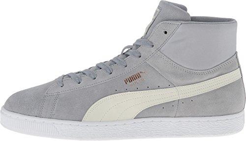 PUMA Men's Suede Mid Classic Nat Calm 2 Quarry/Marshmallow Sneaker 8.5 D (M)