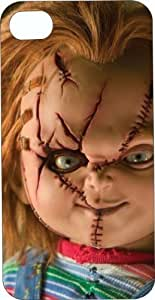 One-Piece iphone 6 plus 5.5 Black Plastic Case Scary Chucky Doll