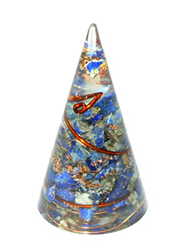 Lapis Lazuli Orgone Cone Pyramid Shape Antenna