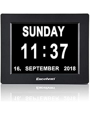 EXCELVAN Calendario Digital con Pantalla de 8