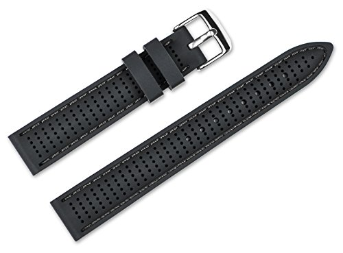22mm-replacement-rubber-watch-band-silicone-rubber-black-w-black-stitching-watch-strap