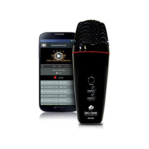 Acesonic MPSSWI Sing-N-Share Pro Portable Microphone For iOS - White by Acesonic