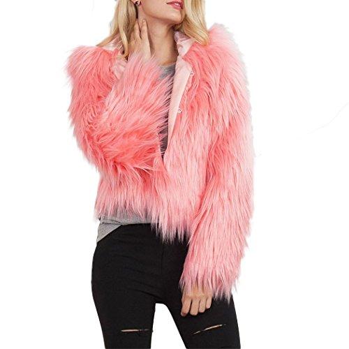 - bbpawing Women's Short Hooded Faux Fur Parka Jacket Coat Outerwear Overcoat