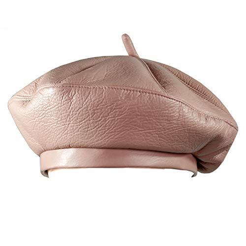2018 Fashion Women PU Leather Octagonal Caps Newsboy Cap Vintage Bonnet Beret Style Retro Leather Hat Cowboy