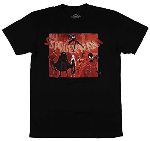 The Amazing Spider-Man into The Spider-Verse Character Mens T-Shirt XL Black