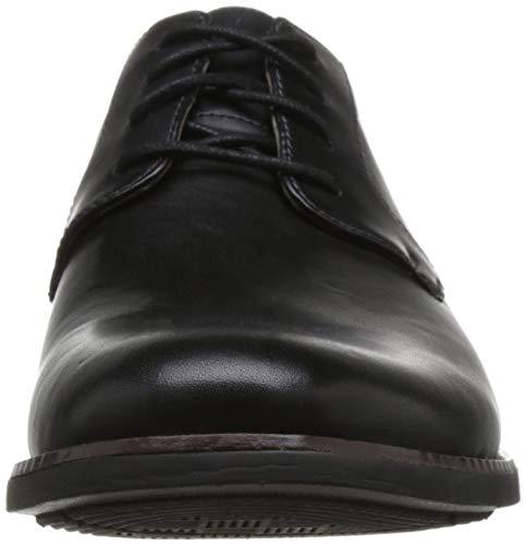 Herren Becken Derbys black Leather Plain Schwarz Clarks F8xZU8