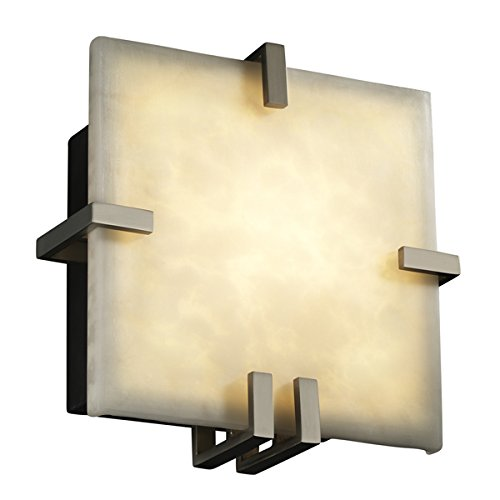 Justice Design Group CLD-5550-MBLK Clouds Collection Clips Square ADA Wall Sconce