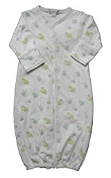 Kissy Kissy Unisex-Baby Infant Fall Frolics Print Convertible Gown-White-Small