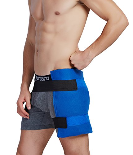 Koo-Care Large Flexible Gel Ice Pack & Wrap with Elastic Straps for Hot Cold Therapy - Great for Sprains, Muscle Pain, Bruises, Injuries - 11'' x 14'') by Koo-Care (Image #4)