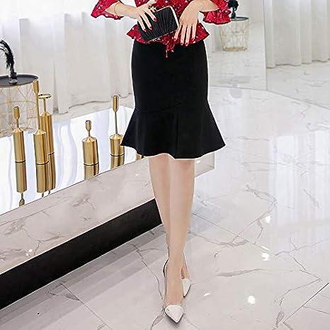 DAHDXD Falda lápiz para Mujer de Moda Talla Grande Falda de Sirena ...