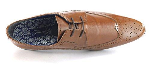 Frank James , Chaussures de ville à lacets pour homme - - marron,