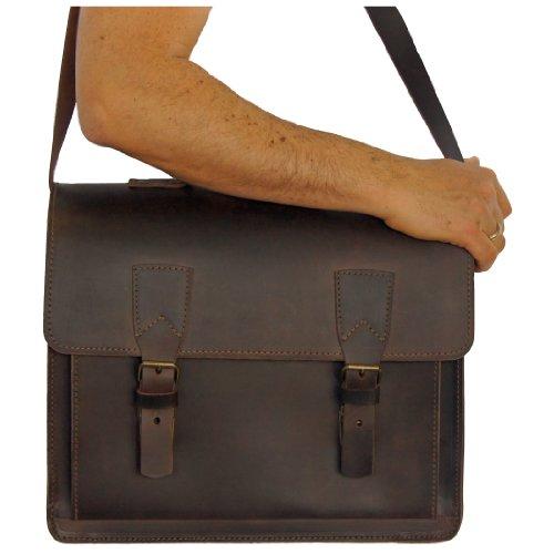 BARONE di MALTZAHN Valigetta portadocumenti COPERNICO in cuoio marrone, Fatto in Germania + cura del cuoio