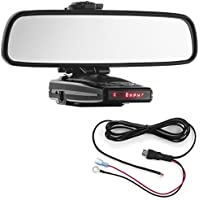 Radar Mount Mirror Mount Radar Detector Bracket + Direct Wire Cord - Escort 9500ix, Redline