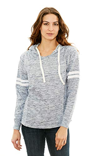 768e45bdf2 Lagaci Women's Long Sleeve Injection Design Sweatshirt Casual Pullover  Hoodie (Blue, Medium)