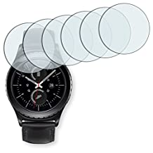 6x Golebo Crystal Clear screen protector for Samsung Gear S2 - (Transparent screen protector, Air pocket free application, Easy to remove)