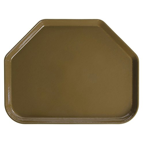 - Cambro Camtray Trapezoid Bayleaf Brown Fiberglass Tray - 18