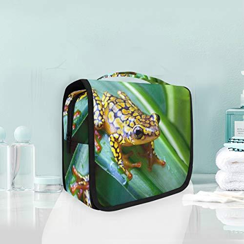 (Makeup Cosmetic Bag Harlequin Poison Dart Frog Portable Storage Travel Toiletry Bag )
