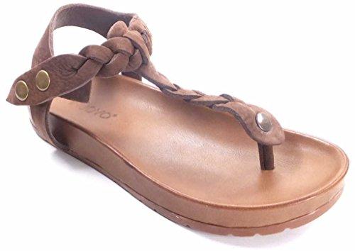 INUOVO, 5053, sandalia INUOVO de cuero marrón, marrón