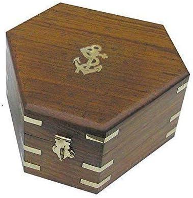 Caja para Sextante, Marítimo Caja de Madera, Caja de Joyas, Latón ...