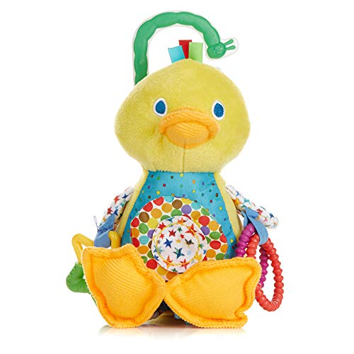The World of Eric Carle, The Very Hungry Caterpillar Developmental Duck Rattle Clip for Babies
