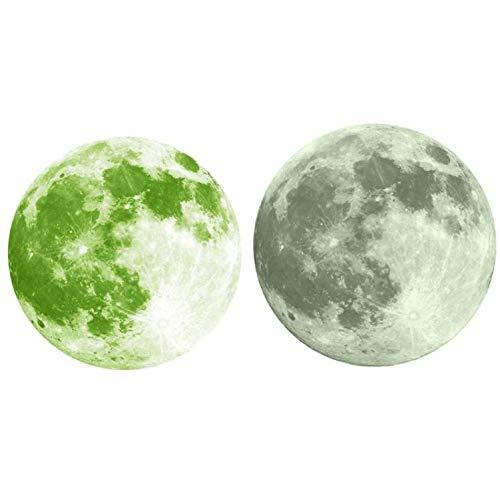 Luminosa Luna Llena Etiqueta de La Pared A Prueba de Agua ...