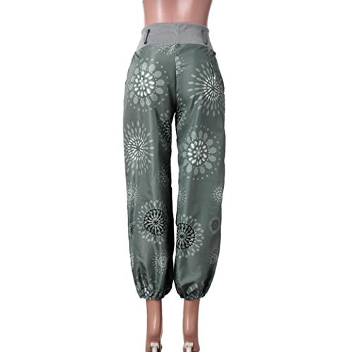 Acogedores Grün Leggings Apretadas Sueltos Completos Ropa Pantalones Deportivos De Anchos Piernas Impresión Yoga Mujeres qBUgf