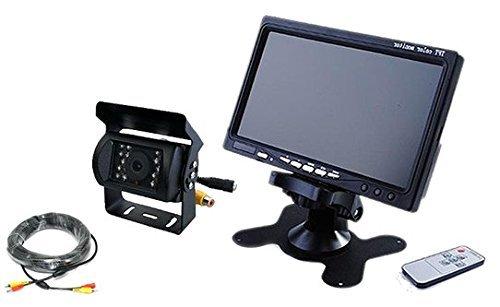 日野 プロフィア 対応 バックカメラ + 7インチモニター セット 12V/24V兼用 20mケーブル付き ノイズ対策済 B01E5C44VY