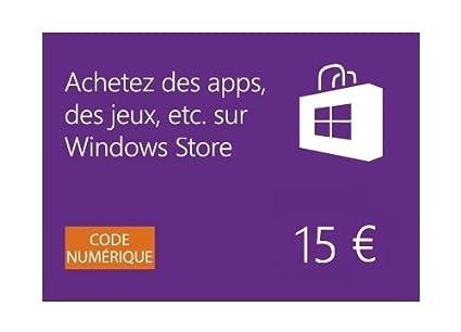 windows store carte cadeau de 15 eur code digital