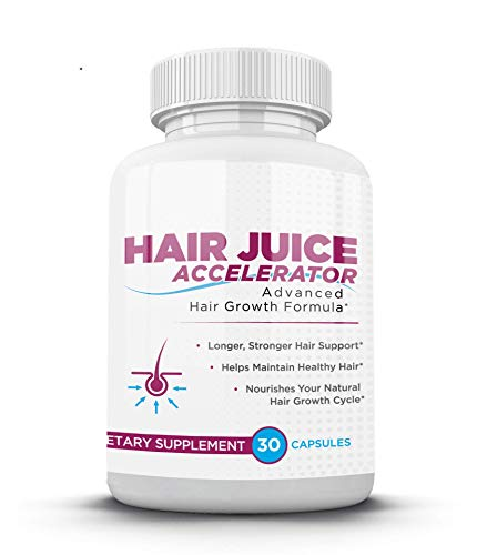 or Single Bottle-Hair Regrowth Treatment Hair Growth Vitamins for Men and Women by Hair Juice Accelerator ()