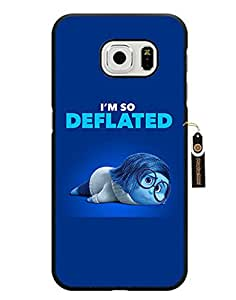 Samsung Galaxy S6 Edge Funda Cover, Inside Out Disney Cartoon Snap On Anti-scratch Shell Case Cover for Boy