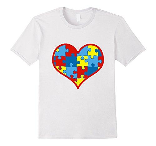 Men's Autism Awareness Shirts Puzzle Piece Love Shirt Lar...