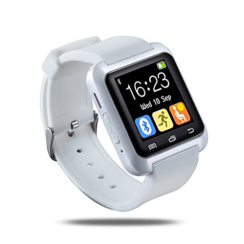 Smart Wrist Wrap Watch Phone Smart Watch for Android Samsung Bluetooth 4.0 for Smartphones Android Samsung Galaxy S3S4S5 S6 S6 edge Note 2Note 3 Note 4 HTC Sony (White)