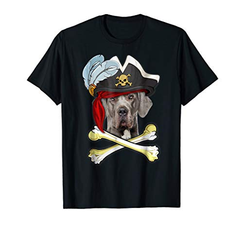 Funny Great Dane Pirate Dog T Shirt