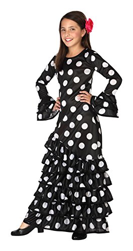 Atosa 26543 - Flamenco, negro, niño, tamaño 116, negro/blanco ...