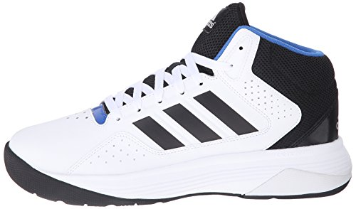 uk availability 9ac40 474e4 adidas NEO Mens Cloudfoam Ilation Mid Basketball Shoe,WhiteBlackMetallic  Silver,