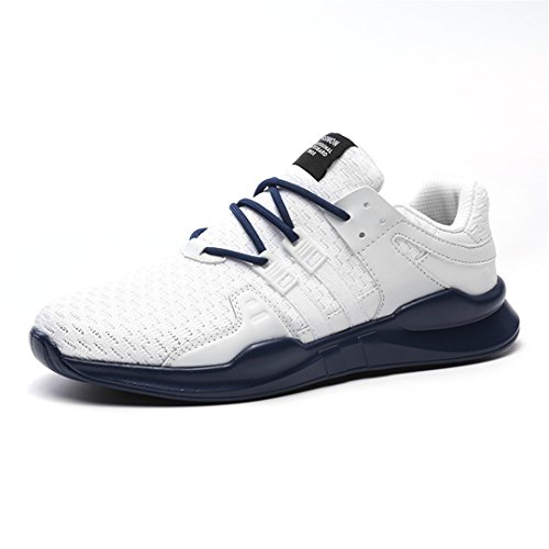 Unisex Comfortable Shoes Oversize Breathable Shoes White Blue ()