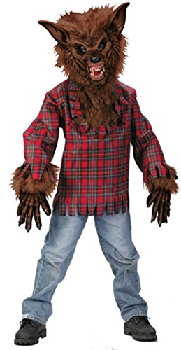 Deluxe Werewolf Child Costume - Boys Werewolf Deluxe Kids Child Fancy Dress Party Halloween Costume, L (12-14)